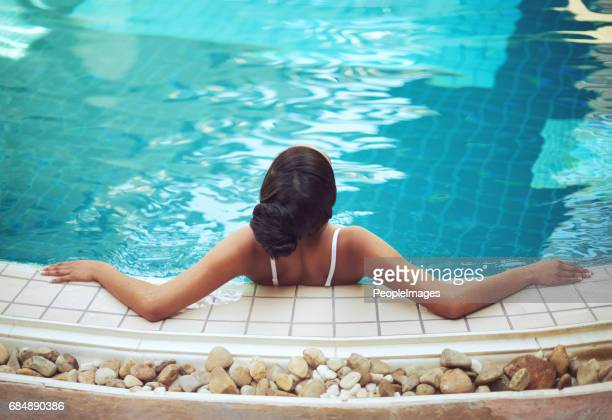 Basking in the blissfully soothing waters