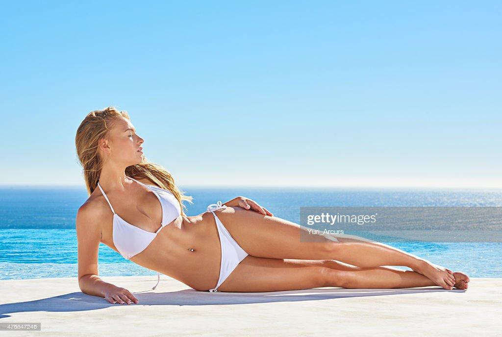 Basking the summer sun : Stock Photo