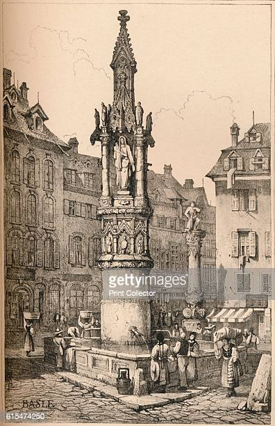 Basle' c1830 Basel is a city in northwestern Switzerland on the river Rhine From Sketches by Samuel Prout edited by Charles Holme [The Studio Ltd...