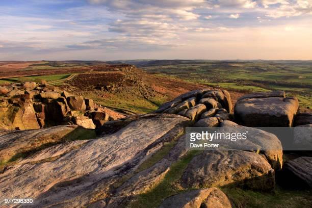 Baslow edge from Curbar edge; Derbyshire
