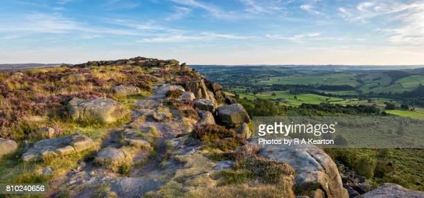 Baslow edge in summer, Peak District national park, Derbyshire