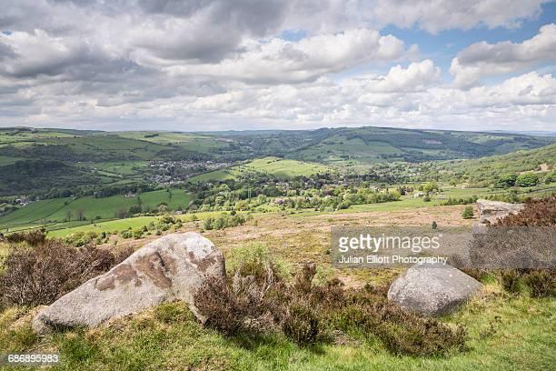 Baslow Edge in the Peak District, UK.
