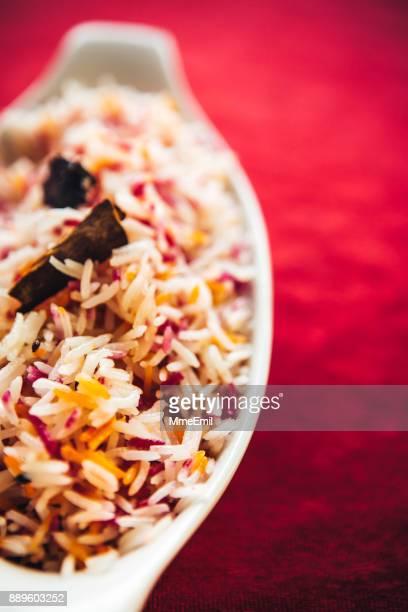 クミンシード風味バスマティ ライス。北インド料理
