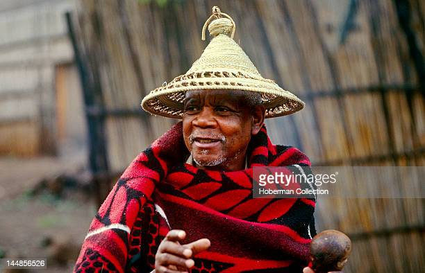 Basotho man in traditional dress Freestate