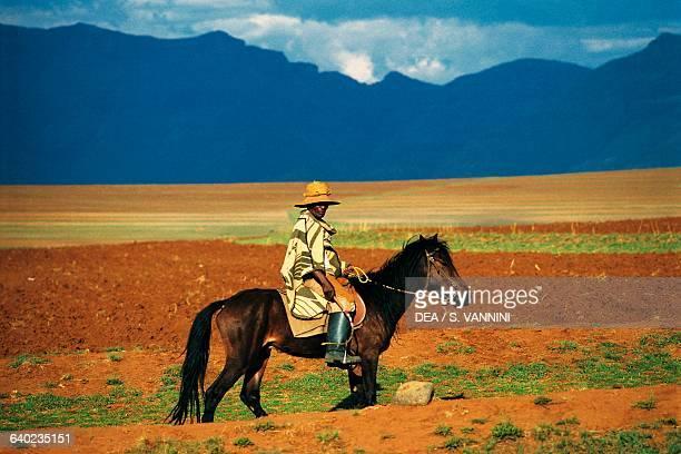 Basotho man on horseback Lesotho