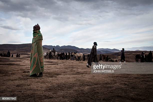 Basotho men the fields after the end of a horse race on July 16 2016 in Semonkong Horseracing in the mountain kingdom of Lesotho is not like at Ascot...