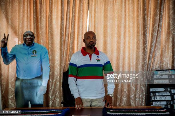 Basotho National Party deputy leader and Home Affairs of Lesotho deputy minister, Machesetsa Mofomobe, poses for a portrait at the party headquarters...