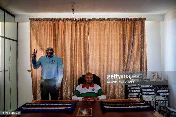 Basotho National Party deputy leader and Home Affairs of Lesotho deputy minister Machesetsa Mofomobe poses for a portrait at the party headquarters...