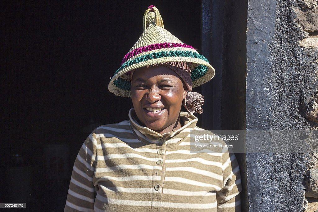 Basotho Woman in Sani Pass, Lesotho : Stock Photo