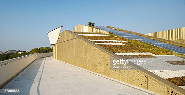 Basque Culinary Center San Sebastian Spain Vaumm Detail Showing Access To Terrace And Roof With Solar Panels Vaumm Spain Architect