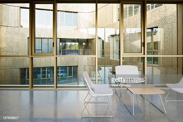 Basque Culinary Center San Sebastian Spain Vaumm Interior View Of Corridos With Chairs Vaumm Spain Architect