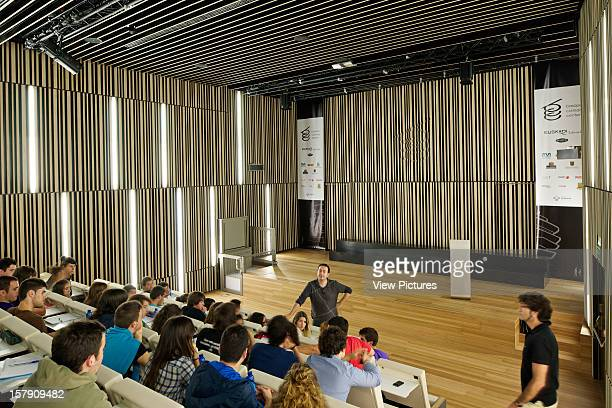 Basque Culinary Center San Sebastian Spain Vaumm People Attending Lecture At Auditorium Vaumm Spain Architect