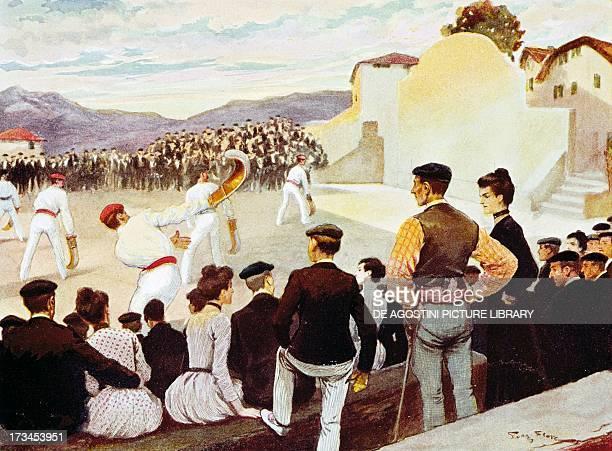 Basque pelota September 1906 sports calendar France 20th century Paris Hôtel Carnavalet