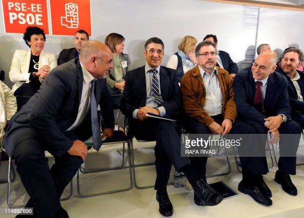Basque regional government's president Patxi Lopez attends Basque Socialist Party PSEPSOE's national executive meeting next to PSE's spokesman Jose...