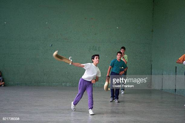 Basque Students Playing Jai Alai