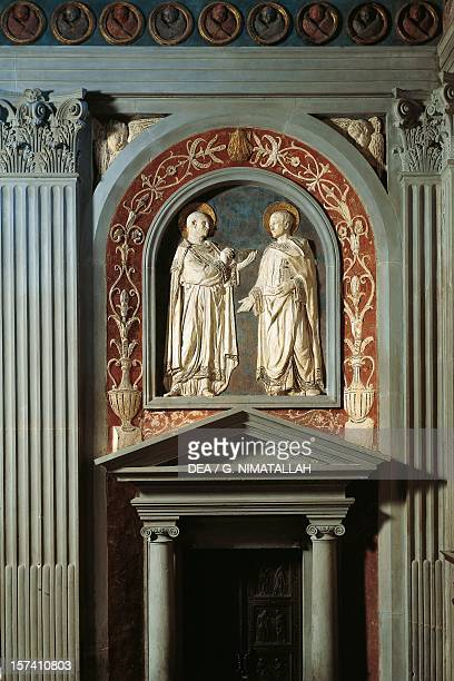 Basrelief by Donatello for one of the doors to the old Sacristy Basilica of St Lawrence Florence Italy 15th century