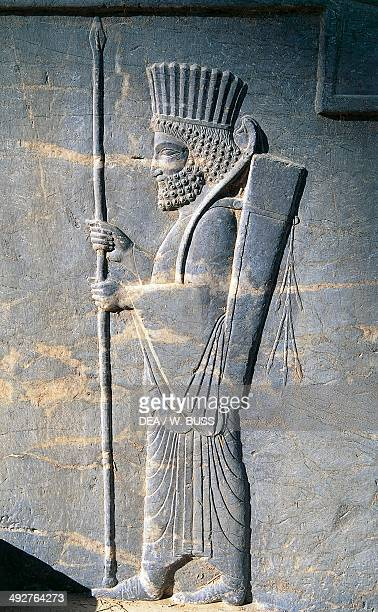 Bas-relief depicting Persian guards, Persepolis , Iran civilisation. Achaemenid civilisation, 6th-5th century BC.