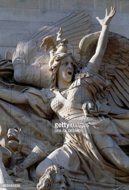 Bas-relief depicting The Departure of the Volunteers of 1792 or La Marseillaise, by Francois Rude, Arc de Triomphe, 1806-1836, Paris , France, 19th...
