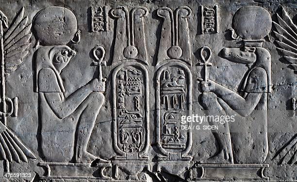 Basrelief Temple of Sobek and Haroeris Kom Ombo Egypt Egyptian civilisation Ptolemaic Kingdom Hellenistic Era Lagide Dynasty