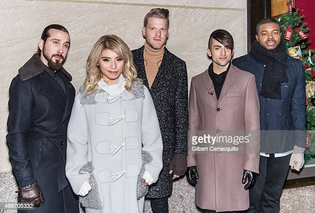 Bass Avi Kaplan Mezzosoprano Kirstie Maldonado Baritone Scott Hoying Tenor Mitch Grassi and Cello Kevin Olusola of a cappella Pop group Pentatonix...
