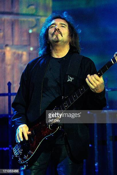 Bass Guitarist Geezer Butler of Heaven and Hell performs live at the Bank Atlantic Center on September 15 2007 in Sunrise Florida