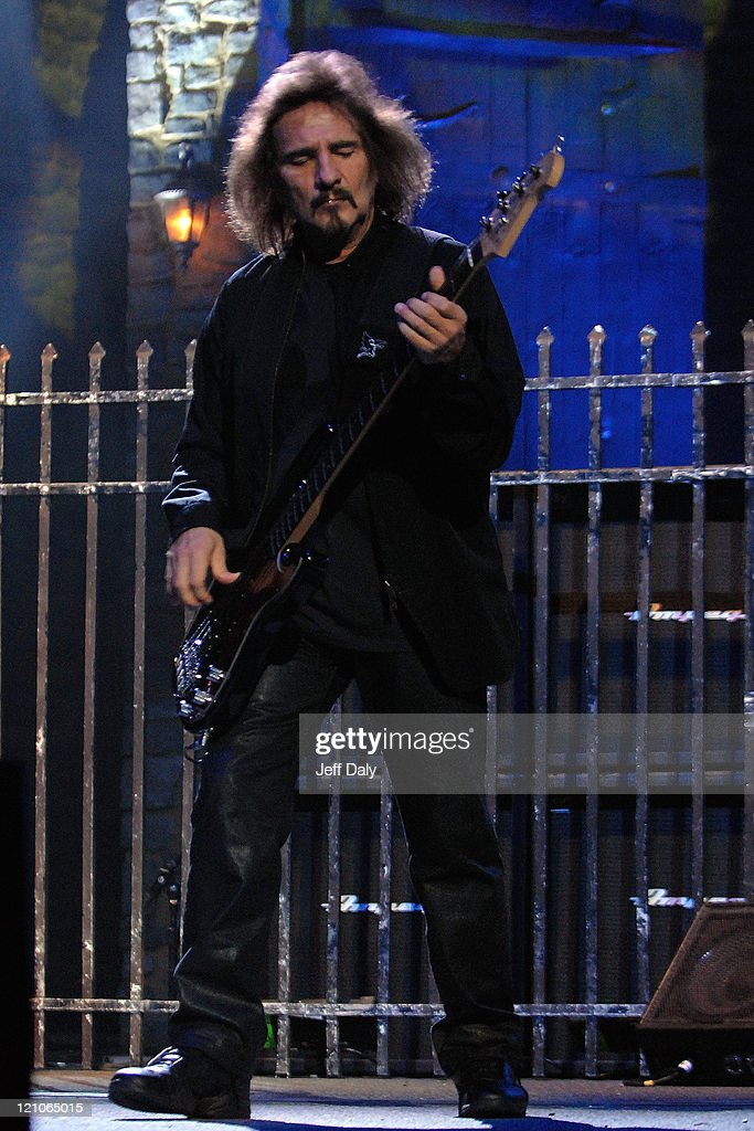 Bass Guitarist Geezer Butler of Heaven and Hell performs live at the Bank Atlantic Center on September 15, 2007 in Sunrise, Florida
