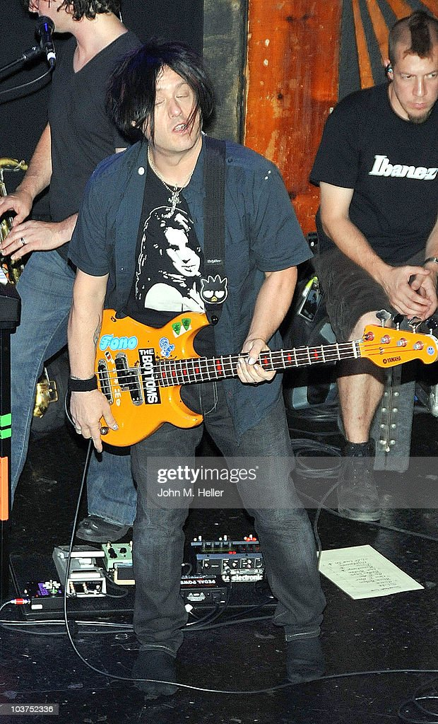 Bass Guitarist of the Goo Goo Dolls Robby Takac performs as part of SIRIUS XM's Coffe House Live series at the Troubadour on August 31, 2010 in Los Angeles, California.
