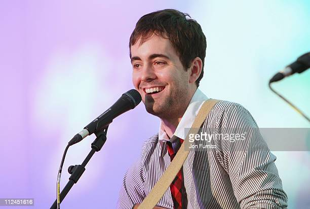 Bass guitarist Ryan Malloy of Melee performs onstage during the Secret Sessions during Day Four of the O2 Wireless Festival in Hyde Park on July 6...