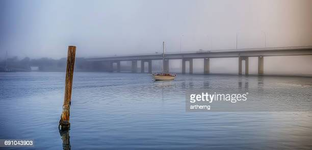 Bass Highway across Mersey River, Devonport, Tasmania, Australia