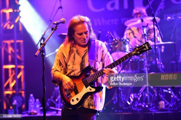Bass player Dave Meros of the classic rock band Iron Butterfly performs onstage at The Canyon on August 19 2018 in Agoura Hills California