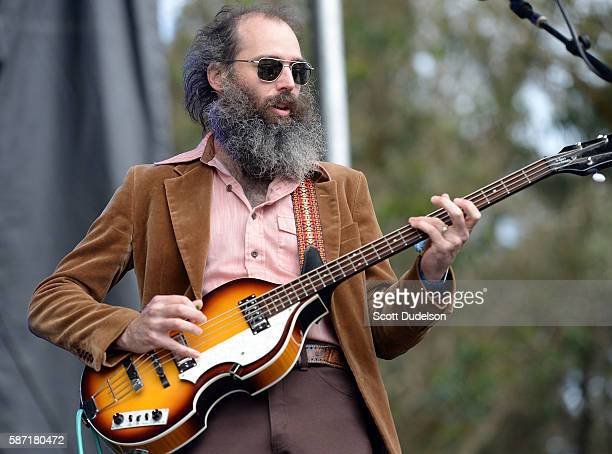 Bass player Ethan Miller of the bands Heron Oblivion and Comets on Fire performs onstage during Outside Lands at Golden Gate Park on August 7 2016 in...