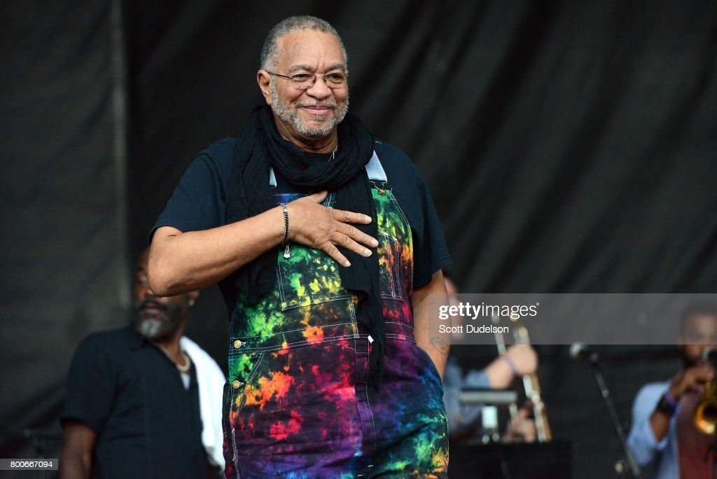 Bass player George Porter Jr of The Meters performs onstage during Arroyo Seco Weekend at the Brookside Golf Course on June 24, 2017 in Pasadena, California.
