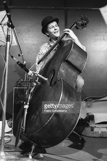 Bass player Jean Jacques Avenel performs live at Bimhuis in Amsterdam, Netherlands on December 06 1985