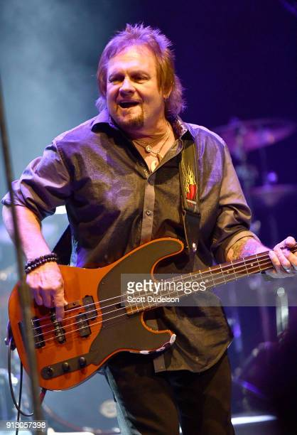 Bass player Michael Anthony formerly of Van Halen performs onstage during the Adopt the Arts annual rock gala at Avalon Hollywood on January 31 2018...