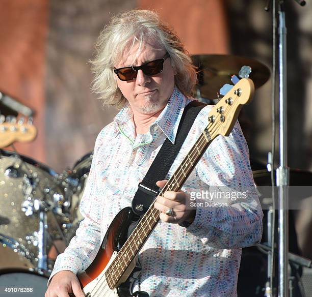 Bass player Mike Mills of REM performs as part of a Big Star tribute event at Golden Gate Park on October 2 2015 in San Francisco California