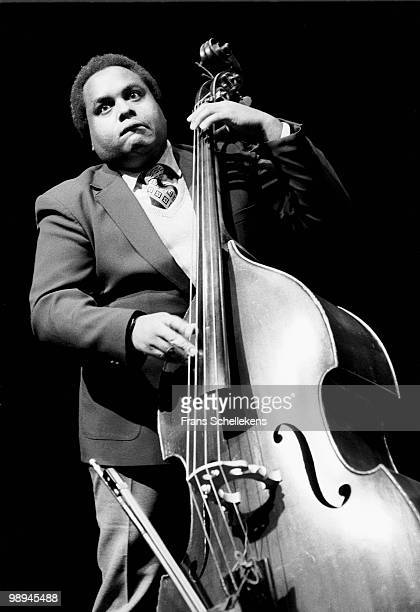Bass player Ray Drummond performs live with the Wynton Marsalis Quintet at Meervaart in Amsterdam, Netherlands on November 13 1983