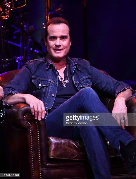 Bass player Robert DeLeo founding member of Stone Temple Pilots attends a live taping of ATT AUDIENCE Network Music Series at Red Studios on March 7...