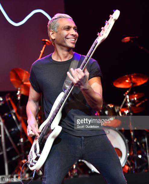 Bass player Tony Kanal, founding member of No Doubt, performs onstage during the 7th Annual Adopt the Arts Benefit Gala at The Wiltern on March 07,...