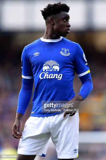 Bassala Sambou of Everton during the Premier League 2 match between Everton U23 and Liverpool U23 at Goodison Park on May 8 2017 in Liverpool England