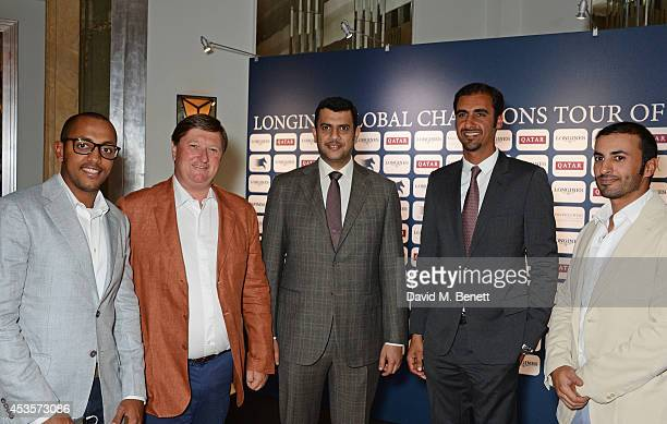 Bassem Hassan Mohammed Jan Tops Hamad Al Attiyah and Sheikh Ali Bin Khalid Al Thani and Ali Yousef Al Rumaihi attends the 2014 Longines Global...