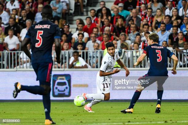 Bassem Srarfi of Nice during the UEFA Champions League Qualifying match between Nice and Ajax Amsterdam at Allianz Riviera Stadium on July 26 2017 in...