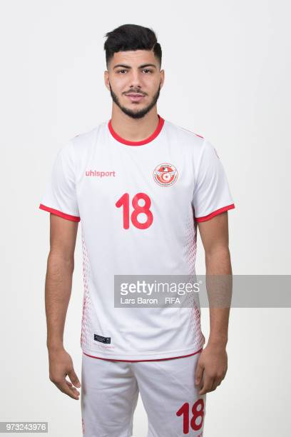 Bassem Srarfi of Tunisia poses during the official FIFA World Cup 2018 portrait session on June 13 2018 in Moscow Russia