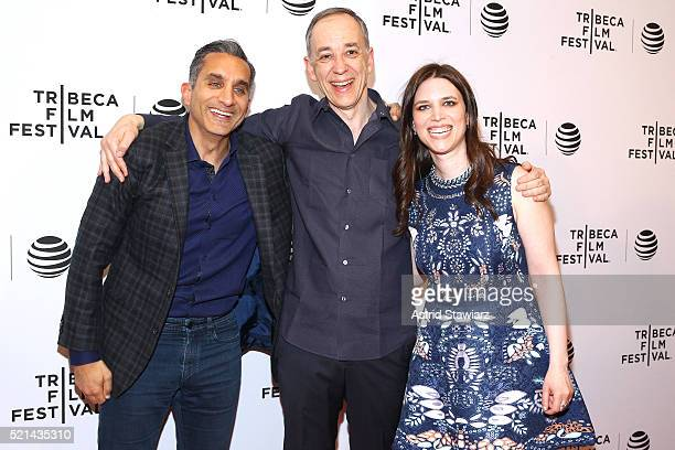Bassem Youssef Technicolor CEO producer Frederic Rose and director Sara Taksler attend Tickling Giants Premiere 2016 Tribeca Film Festival at Chelsea...