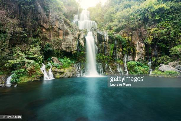 bassin des aigrettes, 3 bassins, la réunion - waterfall stock pictures, royalty-free photos & images
