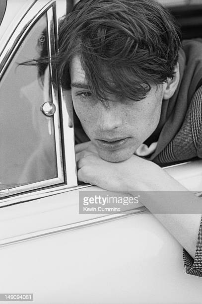 Bassist Alex James of English rock band Blur ClactononSea Essex March 1993