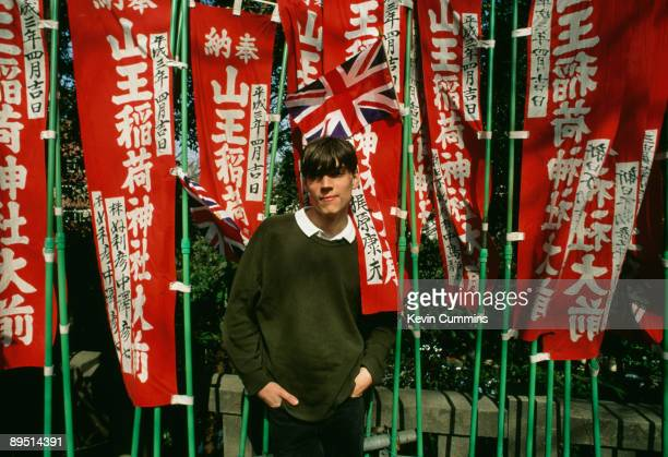 Bassist Alex James of English rock band Blur in Tokyo March 1992
