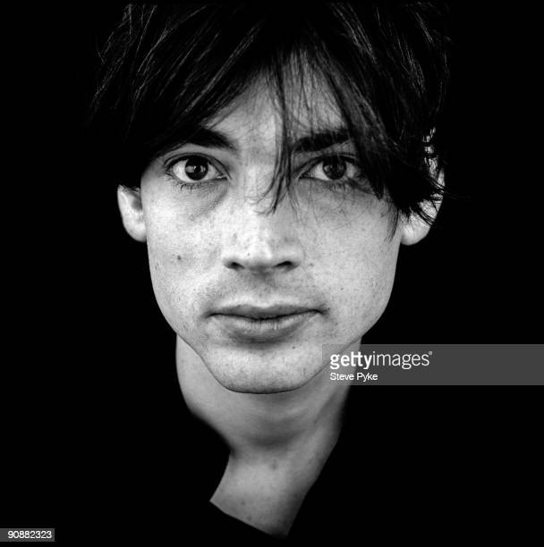 Bassist Alex James of English rock group Blur circa 1995
