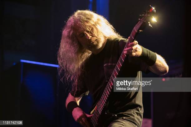 Bassist Alex Webster Of Cannibal Corpse performs at The Regency Ballroom on February 23, 2019 in San Francisco, California.