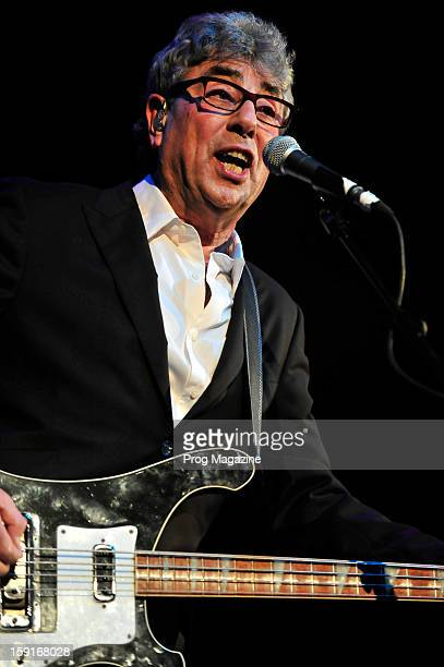 Bassist and vocalist Graham Gouldman of British art rock group 10cc performing live on stage at the Royal Albert Hall in London taken on May 10 2012