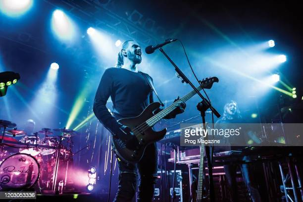 Bassist and vocalist Mariusz Duda of Polish progressive metal group Riverside performing live on stage at the Electric Ballroom in London on November...